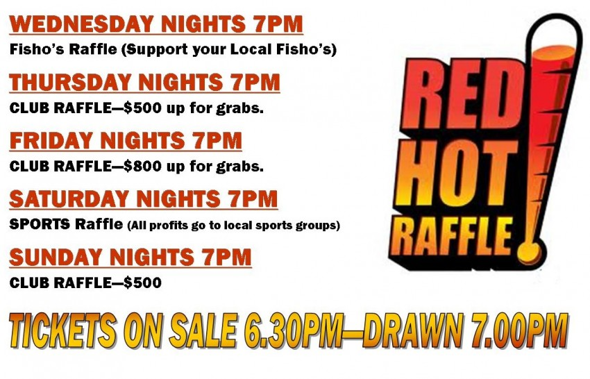 ALL RAFFLES 2014 RED HOT