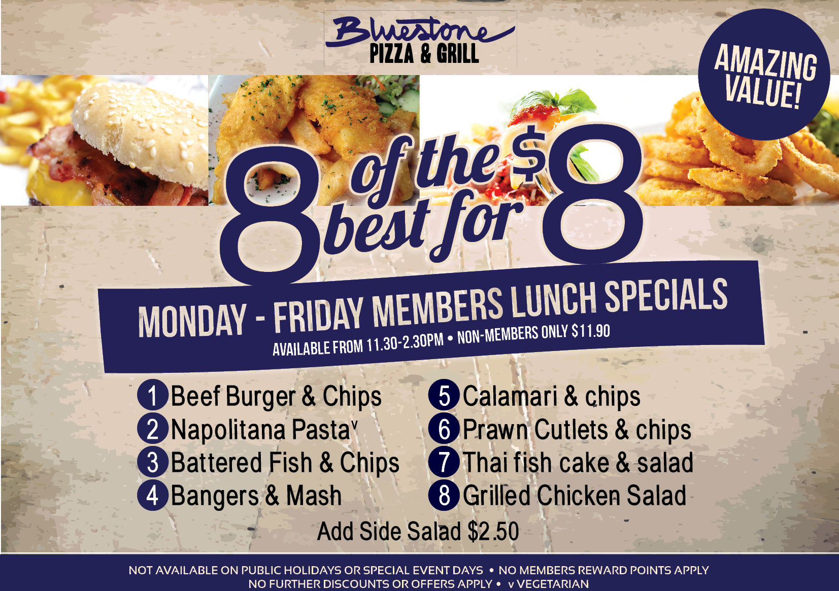 8 lunch deals toongabbie sports club for Lunch specials