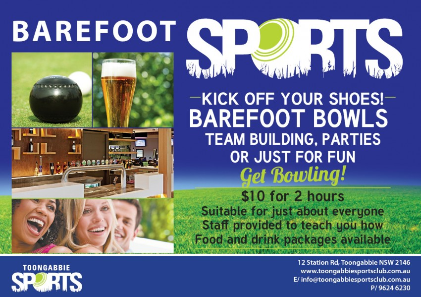 Barefoot Bowls Functions
