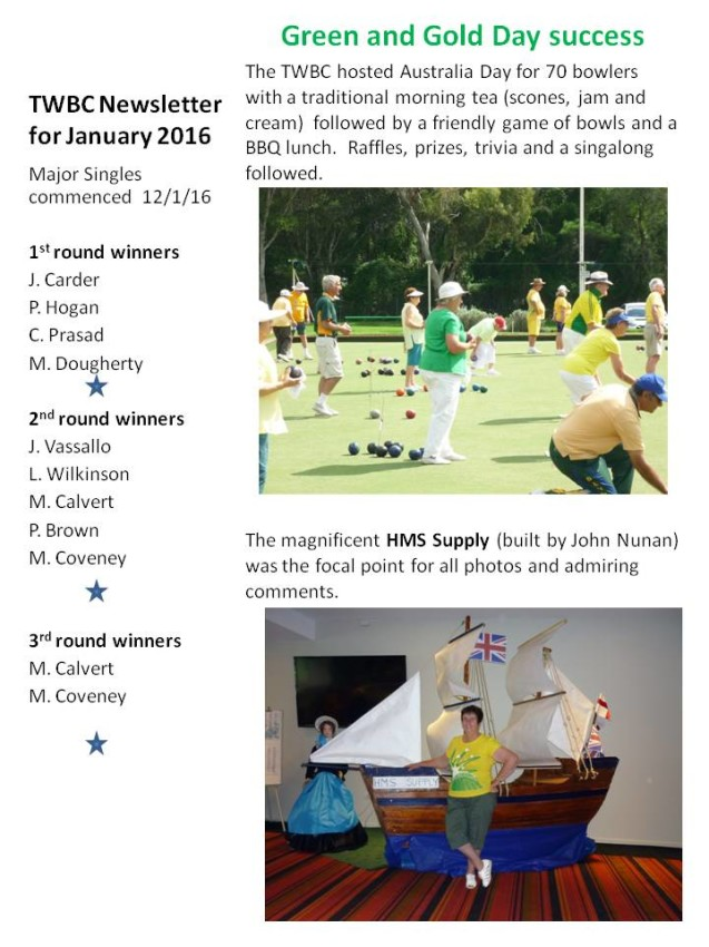 December News Womens Bowling Club